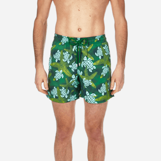 Men Classic Printed - Men Swimtrunks Starlettes & Turtles Vintage, Malachite green supp1