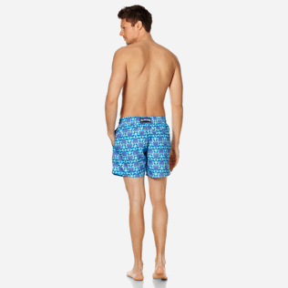 Men Ultra-light classique Printed - Men Swimwear Ultra-Light and Packable Shellfish and Turtles, Acqua backworn