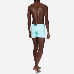 Men Short classic Solid - Men Short and Fitted Stretch Swimwear Solid, Lagoon backworn