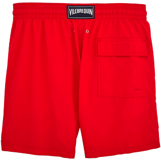 Men Classic / Moorea Embroidered - Primitive Turtle Placed Embroidery Swim shorts, Poppy red back