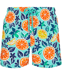 Men Stretch classic Printed - Men Stretch Short Swim Trunks 1994 Presse-Citron , Lagoon front