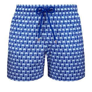 Men Ultra-light classique Printed - Men Ultra-Light and packable Swimwear Istanbul, Sea blue front