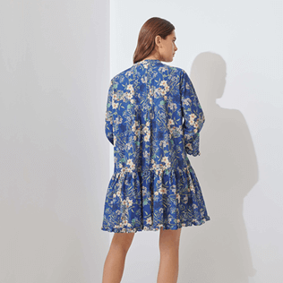 Women Others Printed - Women Linen Cover-up Botanicals, Botanicals backworn