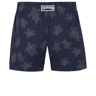 Girls Others Printed - Girls Swim Short Diamond Turtles, Navy back