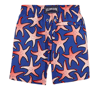 Boys Others Printed - Boys Lightweight and Packable Swimwear Starfish Art, Neptune blue back