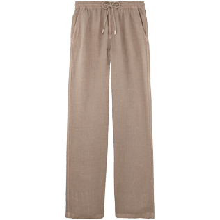 Men Others Solid - Men Linen Pants Solid, Safari front
