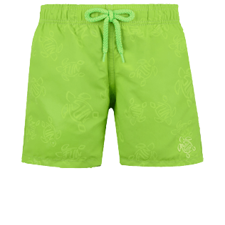 Boys Others Magical - Boys Swim Trunks Water-reactive Fun & Sun Turtles, Wasabi frontworn