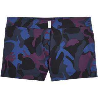 Women Shorties Printed - Camouflage Turtles Stretch shortie, Plum front