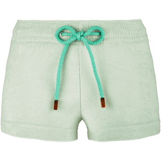 Women Shorties Solid - Women Terry Cloth Shortie Solid, Opaline front