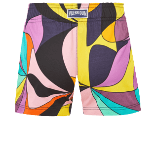 Girls Others Printed - Girls Swim Short 1984 Invisible Fish, Black back