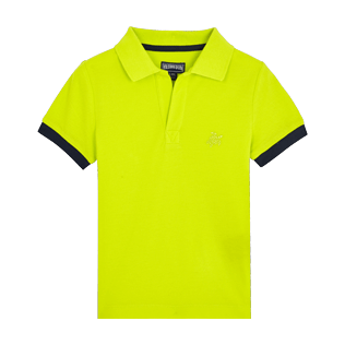 Boys Others Solid - Cotton Boys Polo Shirt Solid, Chartreuse front