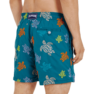 Men Classic Embroidered - Men Swim Trunks Embroidered Ronde des tortues - Limited Edition, Pine wood supp1