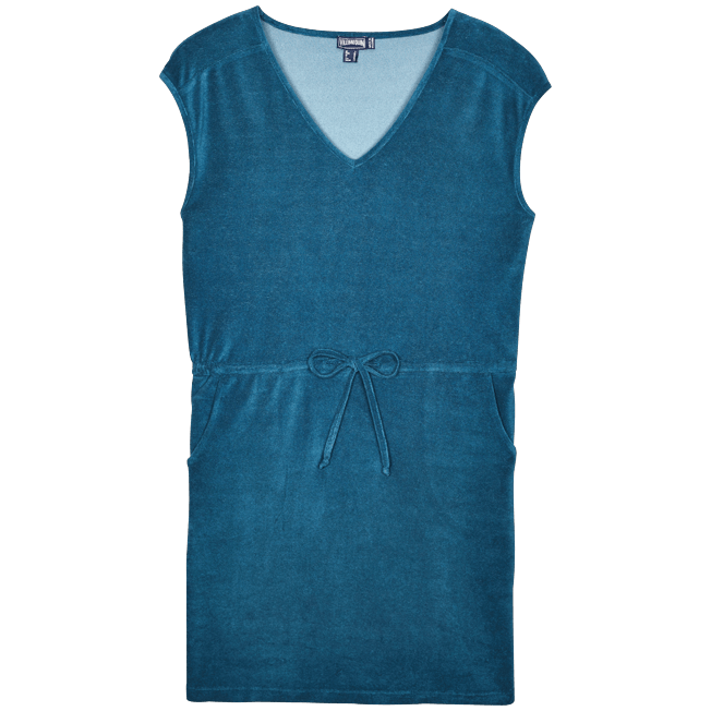 Vilebrequin - Robe courte en Eponge Femme Unie - 1