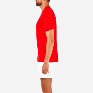 Men Others Solid - Men Pima Cotton Jersey T-shirt Solid, Poppy red supp3