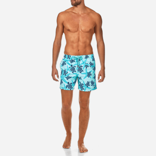 Men Classic Printed - Starlettes & Turtles Swim shorts, Lagoon frontworn