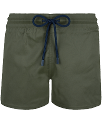 Men Short classic Solid - Men Swim Trunks Short and Fitted Stretch Solid, Pepper front