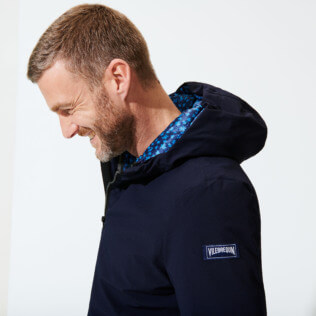 Others Printed - Men 3-in-1 Jacket Micro Turtles, Navy supp8
