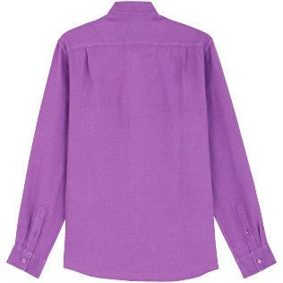 Men Others Solid - Men Linen Shirt Solid, Orchid back