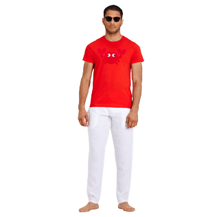Men Others Printed - Men Cotton T-Shirt Crabs, Medicis red supp2