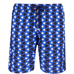 Men Long classic Printed - Men Swimtrunks Long Re Mi Fa Soles, Royal blue front