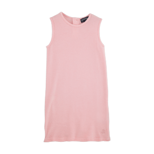 Girls Dresses Solid - Solid Terry Sleeveless dress, Peony front