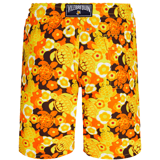 Men Long classic Printed - Men Swimwear Long 1976 Sun Turtles, Lemon back
