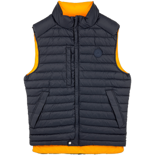 007 Liso - Reversible Sleeveless Down jacket Bicolor, Azul marino front