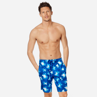 Men Long classic Printed - Men Swimwear Long Ultra-Light and Packable Crystal Turtles, Atoll frontworn