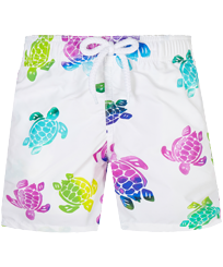 男童 Others 印制 - Boys Swimwear Ronde des Tortues Aquarelle, White front