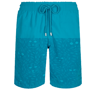 男款 Long classic 魔术 - Men Swimwear Long Bengale Tigers Water-reactive, Light azure front