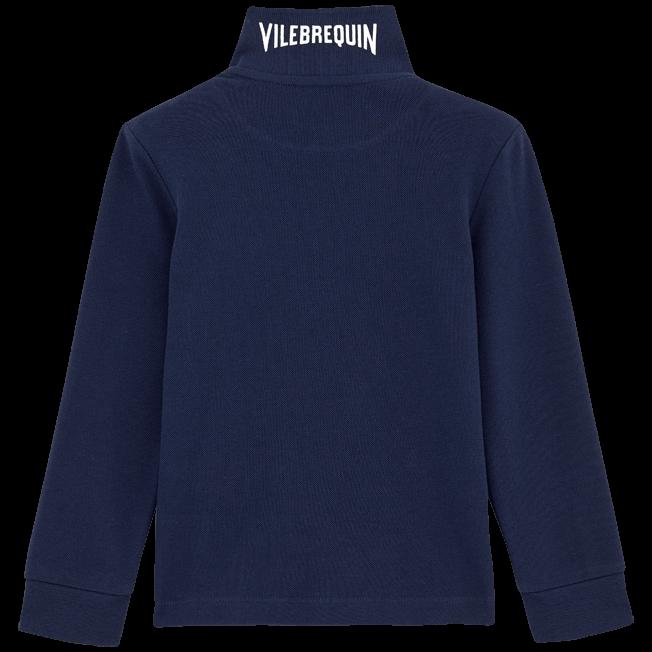 Vilebrequin - Polo en piqué de coton manches longues Uni - 2