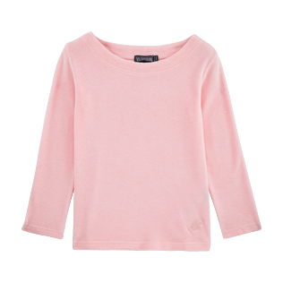 Girls Tee-Shirts Solid - Solid Terry Sailor Top, Peony front