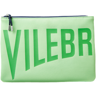 Others Solid - Zipped Beach Bag Solid, Neon green front