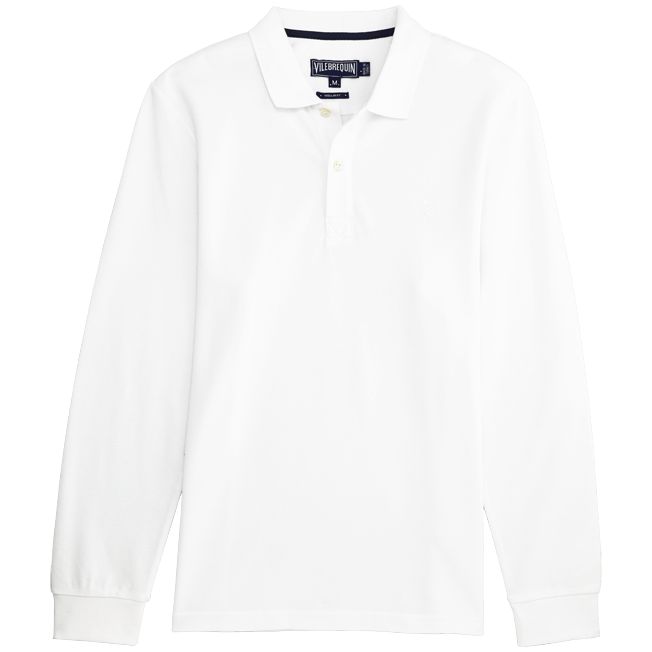 Vilebrequin - Solid Long sleeves Cotton pique polo - 1