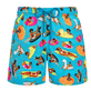 Men Stretch classic Printed - Men Swimwear - Vilebrequin x Derrick Adams, Swimming pool front