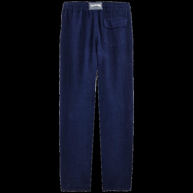 Vilebrequin - Pantalón de lino liso para hombre - 2