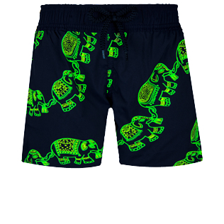 Boys Others Magique - Boys Swim Trunks Stretch Elephant Dance Glow in the dark, Navy frontworn