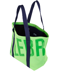 Others Solid - Large Beach Bag Neoprene, Neon green frontworn