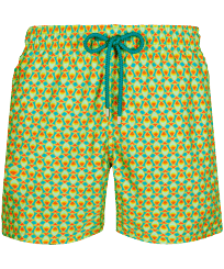 Men Classic Printed - Men Swim Trunks 1978 Infinite Fishes, Veronese green front