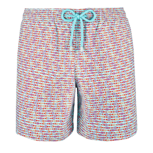 Men Classic / Moorea Printed - Men Swimwear Modernist Fish, Lagoon front