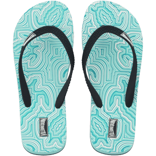 Men Others Printed - Men Flip Flop Hypnotic Turtles, Lagoon front