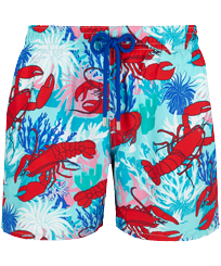 Men Classic Printed - Men Swim Trunks Homards & Coraux, Medicis red front