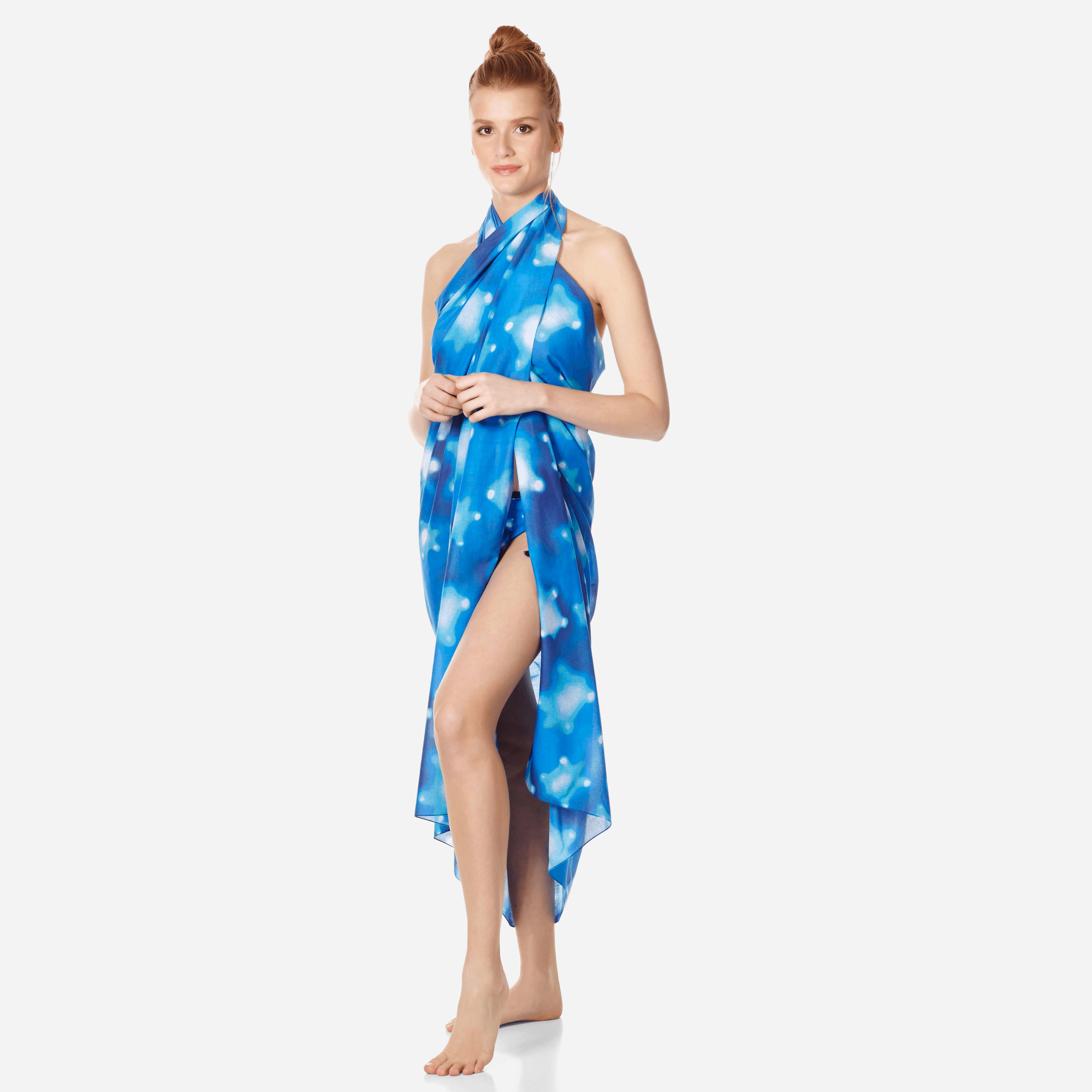 VILEBREQUIN | Accessories - Cotton Pareo Crystal Turtles - PAREO - PAREO - Blue - OSFA - Vilebrequin | Goxip