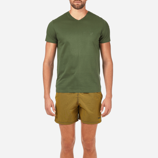 Vilebrequin - Solid V-neck Mercerized cotton T-Shirt - 5