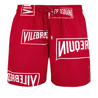 Men Classic Printed - Men Swim trunks (Vilebrequin)RED, Red front