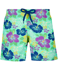Boys Others Printed - Boys Swimwear Tropical turtles, Cardamom front