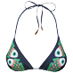Women Triangle Printed - Women Triangle Bikini Top Sweet Fishes, Navy front