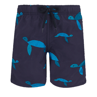 Boys Others Embroidered - Boys Swimwear Embroidered Origami Turtles - Limited Edition, Midnight blue front