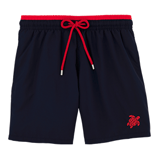 Men Classic / Moorea Solid - Solid Bicolor Swim shorts, Navy / red front