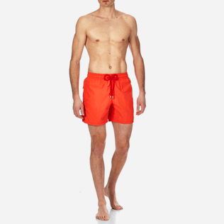Men Classic Solid - Men swimtrunks Solid, Pumpkin frontworn